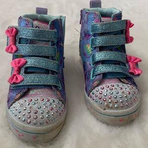 Skechers Twinkle Toes Mermaid Theme High Top Shoe